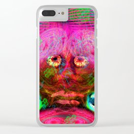 Overactive Brain Clear iPhone Case