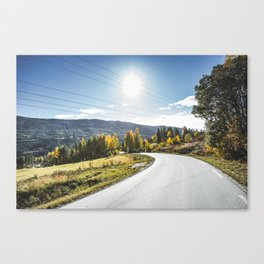 Roads of Norway. || Gol, Norge. || Mountains. || Colourful Autumn. || Madara Travels. Canvas Print