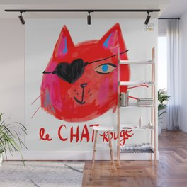 Le Chat Rouge Wall Mural