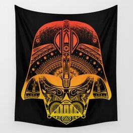 Mandala Darth Vader - Sunset. The big baddy from StarWars™.  Wall Tapestry