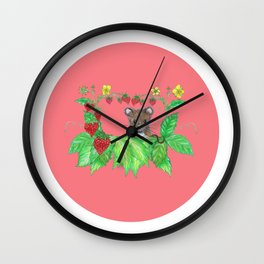 Strawberry mouse Wall Clock