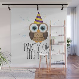 Party Owl The Time Wall Mural