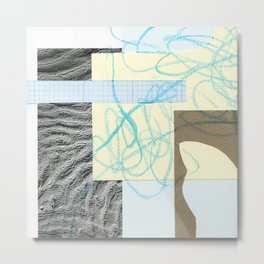 collage with map Metal Print