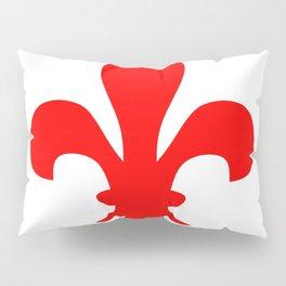 Fleur de Lis (Red & White) Pillow Sham