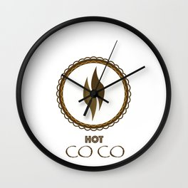 hot coco Wall Clock
