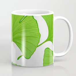 Green Ginkgo Leaf Pattern Coffee Mug