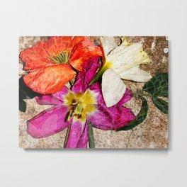 Fleurs vintages Metal Print