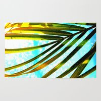 palm tree Area & Throw Rugs featuring Palm by Stephanie Stonato