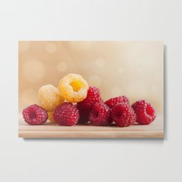 red and golden raspberry fruits Metal Print