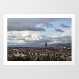 Arno and Ponte Vecchio in Florence Italy Art Print