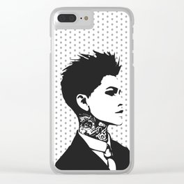 The handsome butch with neck tattoos Clear iPhone Case