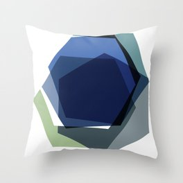 Serenity Hexagons Throw Pillow