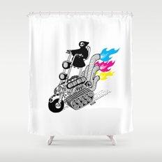 Grim Hellraiser Shower Curtain
