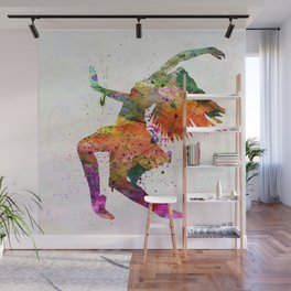 dancing to the night Wall Mural