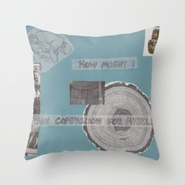 self compassion Throw Pillow