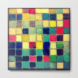Painting - Abstract squares Metal Print