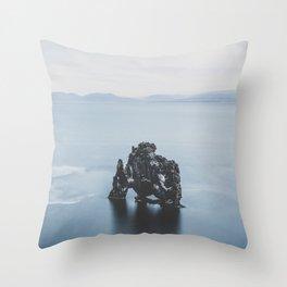 Hvitserkur, Iceland III Throw Pillow