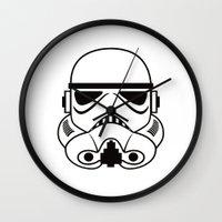 stormtrooper Wall Clocks featuring stormtrooper by Vreckovka