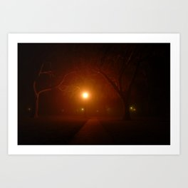 Culver City - Park at Night Art Print