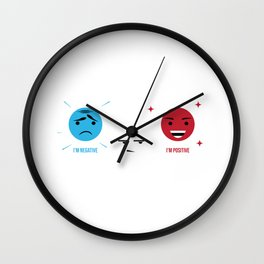 Chemist Science Electrons Protons Neutrons Gift Wall Clock