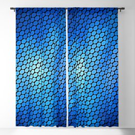 Blue LED Abstract Art Design Blackout Curtain
