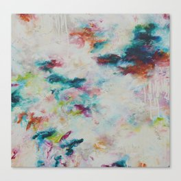 Spring showers abstract painting Canvas Print