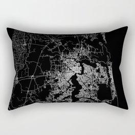 Jacksonville map Rectangular Pillow