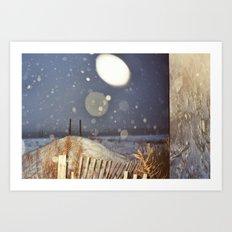 Snowy Beach Art Print
