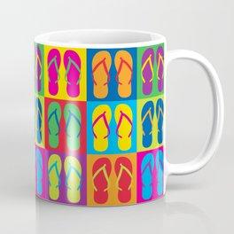 Pop Art Flip Flops Coffee Mug