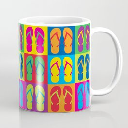 Pop Art Flip Flops Coffee Mug