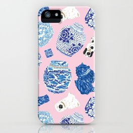 Chinoiserie Curiosity Cabinet Toss 5 iPhone Case