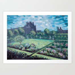 Jardin du Tuileries - Paris, France - Acrylic Painting Art Print