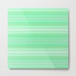 Mint Green Abstract XIII Metal Print