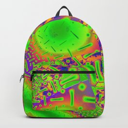 Neon Dichroic Psychedelic Fractal Backpack
