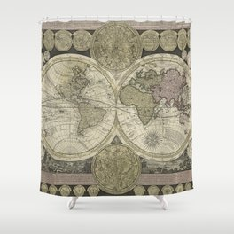 Terrestrial Planisphere Globe Shower Curtain