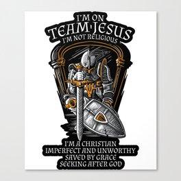 Knight Templar Crusader Shirt - I'm on Team Jesus Canvas Print