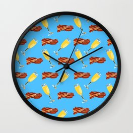 Mimosas and Bacon, Brunch Time Wall Clock