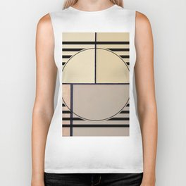 Toned Down - line graphic Biker Tank