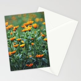 Orange Flowers #1 Stationery Cards