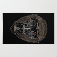 ape Area & Throw Rugs featuring Ape by Mel McIvor