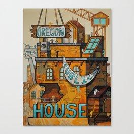 Oregon Public House Poster - 11 Canvas Print