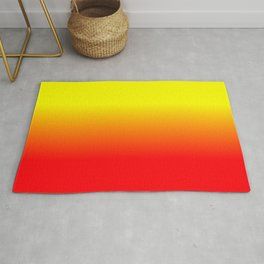 Neon Red and Neon Yellow Ombré  Shade Color Fade Rug