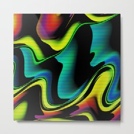 Hot abstraction with lines 4 Metal Print