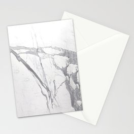 Marble White Winter  Stationery Cards