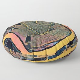 New Orleans Color Floor Pillow