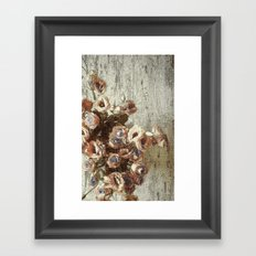 Classic Pastel Floral Framed Art Print