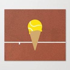 Tennis Ice Cream Canvas Print
