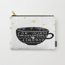 Winter Coffee Carry-All Pouch