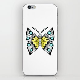 """I Dreamt I was a Butterfly"" iPhone Skin"