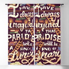 Library is Paradise Blackout Curtain